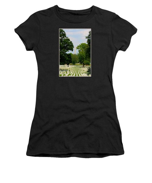 Women's T-Shirt (Junior Cut) featuring the photograph Heroes And A Monument by Patti Whitten
