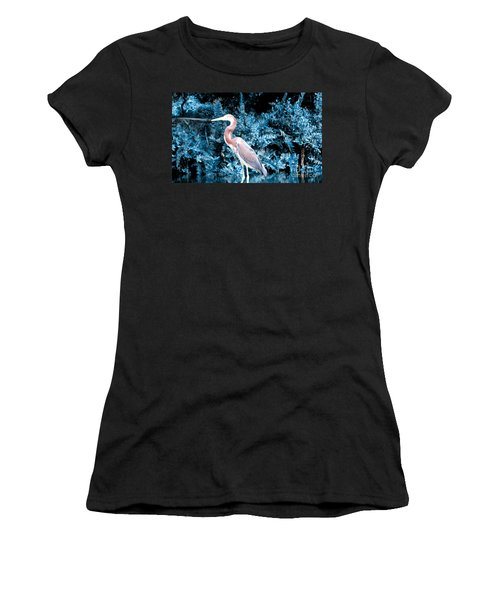 Heron In Blue Women's T-Shirt (Athletic Fit)
