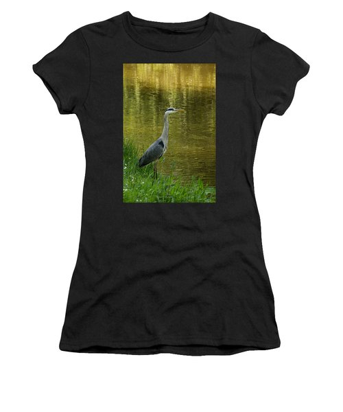 Heron Statue Women's T-Shirt (Athletic Fit)