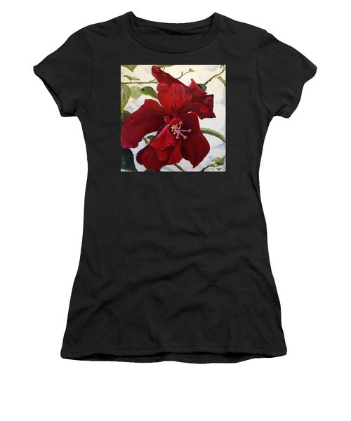Double Hibiscus Women's T-Shirt (Athletic Fit)