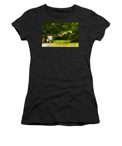 Hidden Down The Road Women's T-Shirt (Athletic Fit)