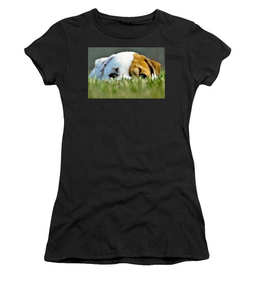 Women's T-Shirt featuring the photograph Hide And Seek Novice by Andrea Platt