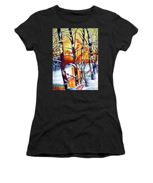 Highland Creek Sunset 2  Women's T-Shirt (Athletic Fit)