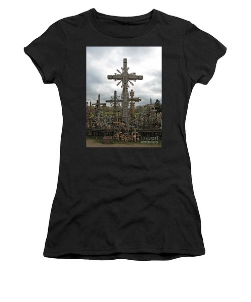 Hill Of Crosses 06. Lithuania.  Women's T-Shirt (Athletic Fit)