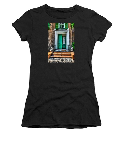 Historic Charleston Sc Door Women's T-Shirt (Athletic Fit)