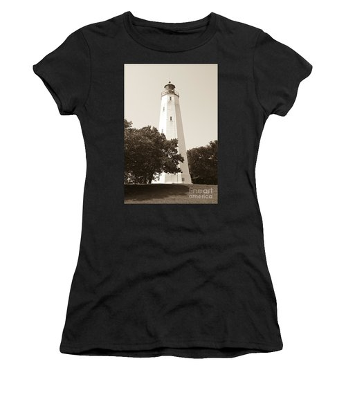 Historic Sandy Hook Lighthouse Women's T-Shirt