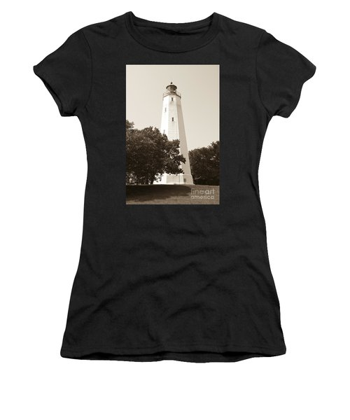 Historic Sandy Hook Lighthouse Women's T-Shirt (Athletic Fit)