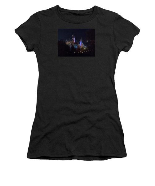 Hogwarts Castle In Lights Women's T-Shirt (Junior Cut) by Kathy Long