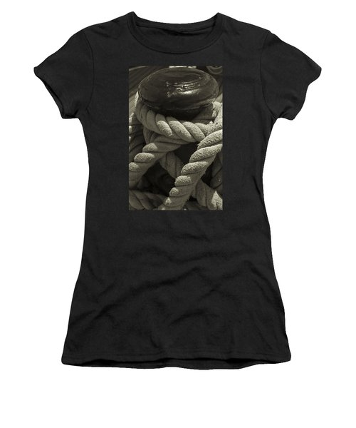 Hold On Black And White Sepia Women's T-Shirt