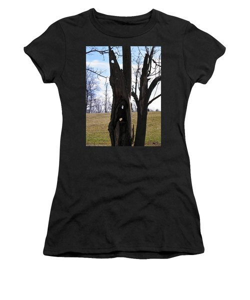 Women's T-Shirt (Junior Cut) featuring the photograph Holey Tree Trunk by Nick Kirby