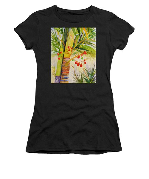 Holiday Palm Women's T-Shirt (Athletic Fit)