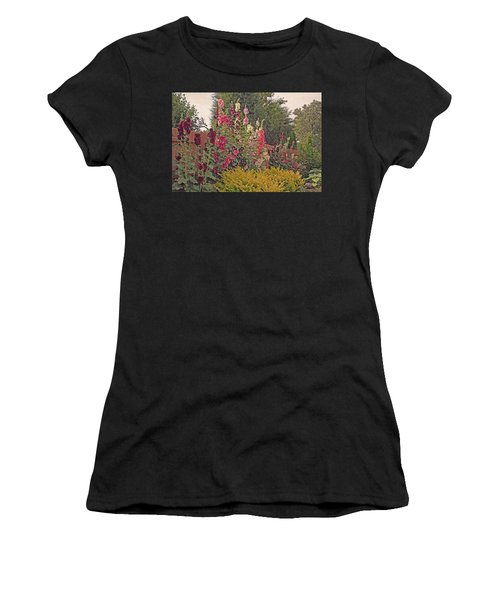 Hollyhocks Women's T-Shirt (Athletic Fit)