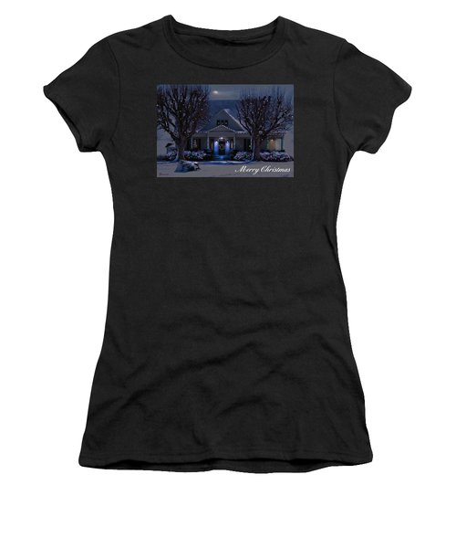 Women's T-Shirt (Junior Cut) featuring the photograph Home For Christmas by Bonnie Willis