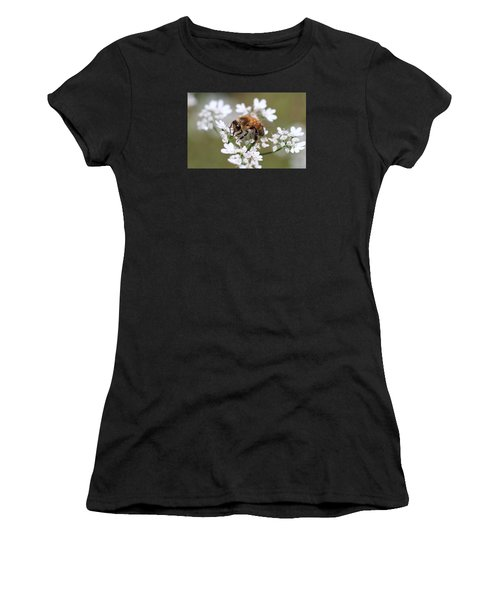 Honeybee On Cilantro Women's T-Shirt (Athletic Fit)