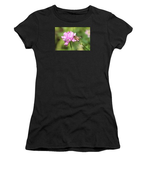 Honeybee On Crown Vetch Women's T-Shirt (Athletic Fit)