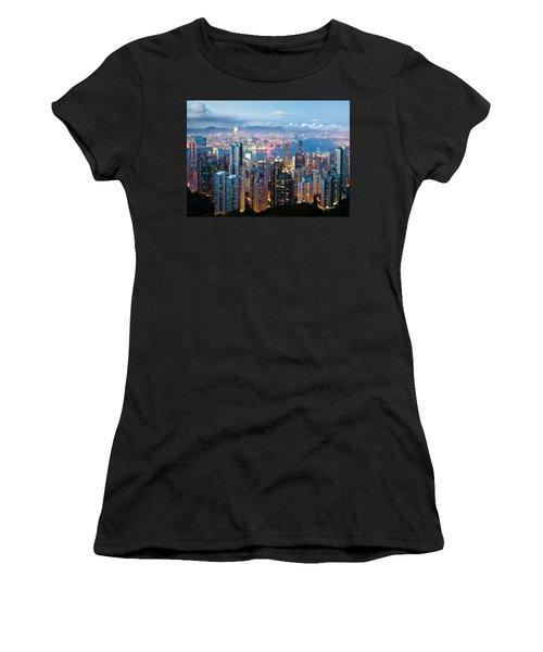 Hong Kong At Dusk Women's T-Shirt