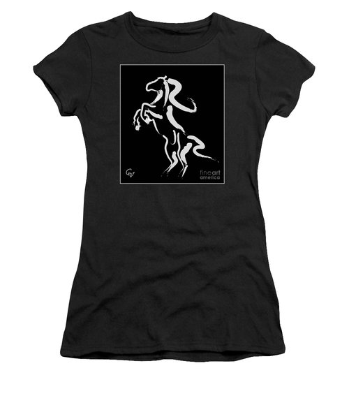 Horse -black And White Beauty Women's T-Shirt (Junior Cut) by Go Van Kampen
