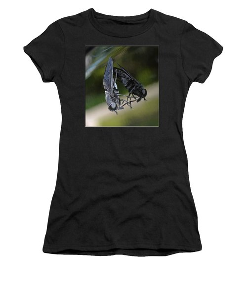 Women's T-Shirt (Junior Cut) featuring the photograph Horse Fly by DigiArt Diaries by Vicky B Fuller