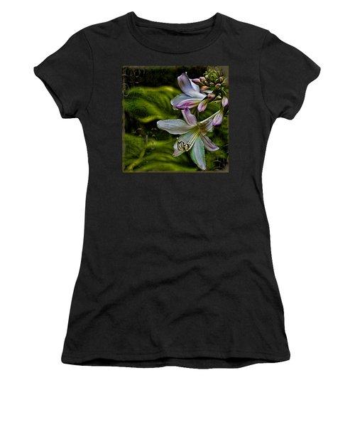 Hosta Lilies With Texture Women's T-Shirt