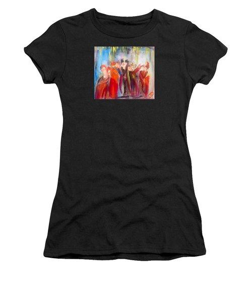 Hot Christmas Polka Women's T-Shirt (Athletic Fit)