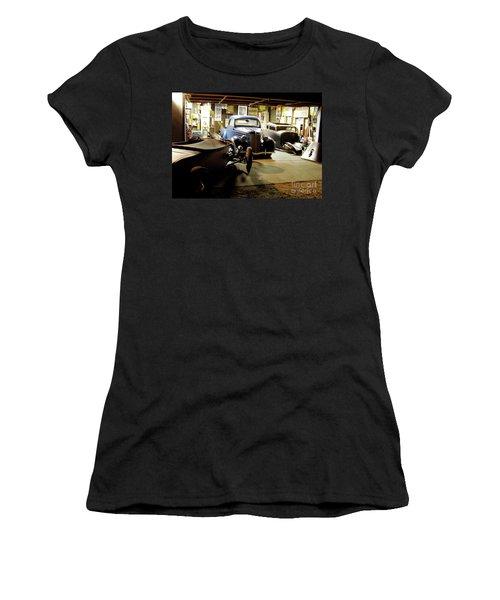 Hot Rod Garage Women's T-Shirt (Junior Cut) by Alan Johnson