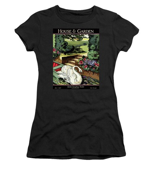 House & Garden Cover Illustration Of A Swan Women's T-Shirt