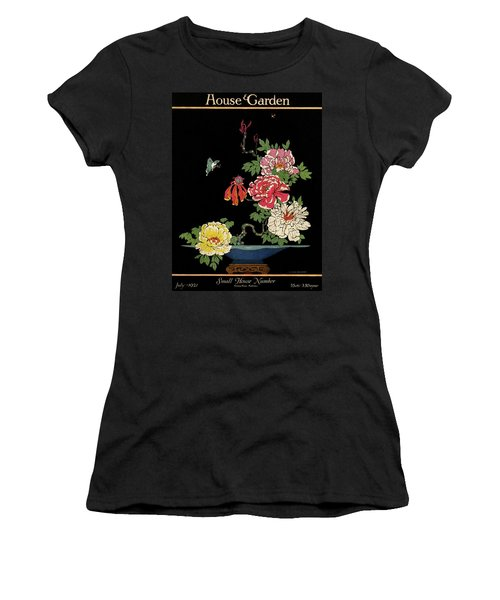 House & Garden Cover Illustration Of Peonies Women's T-Shirt