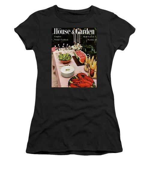 House And Garden Cover Featuring A Buffet Table Women's T-Shirt