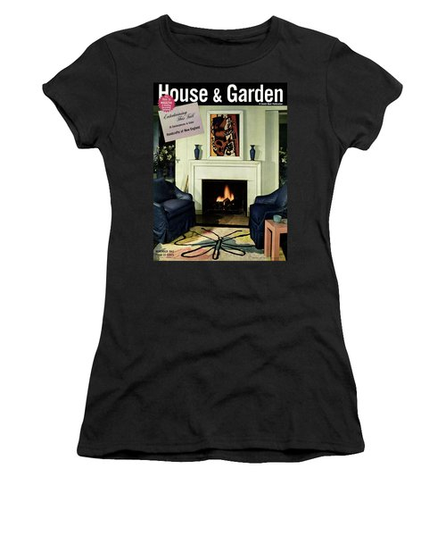 House And Garden Cover Featuring A Living Room Women's T-Shirt