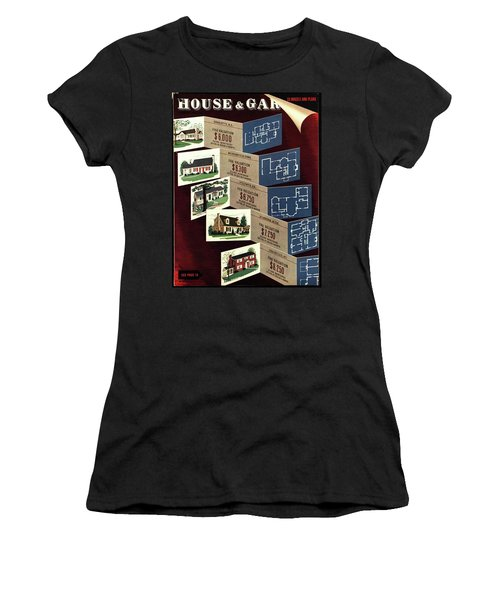 House And Garden Cover Featuring Houses Women's T-Shirt