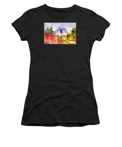 House In The Country Women's T-Shirt (Athletic Fit)