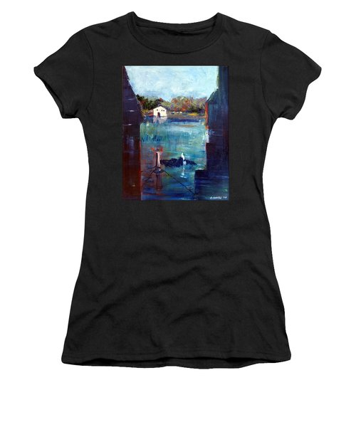 Houseboat Shadows Women's T-Shirt (Athletic Fit)