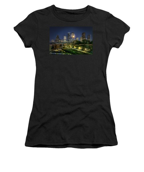 Houston On The Bayou Women's T-Shirt (Athletic Fit)