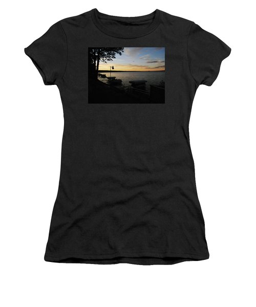 Hubbard Lake Sunset Women's T-Shirt