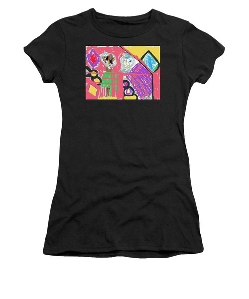 Hula Girl Under Paint Women's T-Shirt (Athletic Fit)
