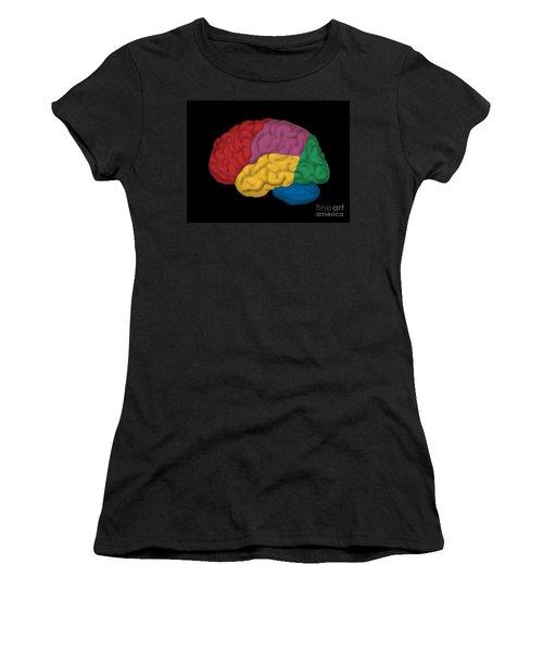 Human Brain, Lateral View Women's T-Shirt