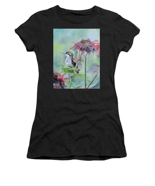 Hummingbird And Coneflowers Women's T-Shirt