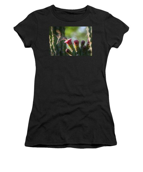 Hummingbird Breakfast Southwest Style  Women's T-Shirt
