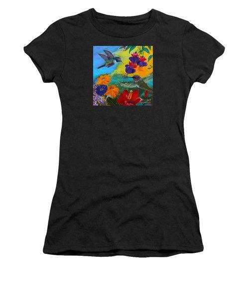 Hummingbirds Prayer Warriors Women's T-Shirt (Athletic Fit)