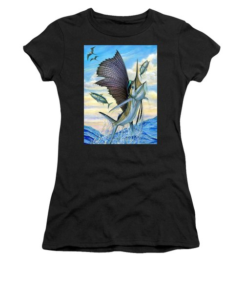 Hunting Of Small Tunas Women's T-Shirt (Athletic Fit)