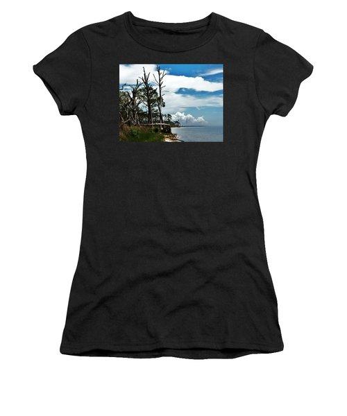 Women's T-Shirt (Junior Cut) featuring the photograph Hurricane Trail by Faith Williams