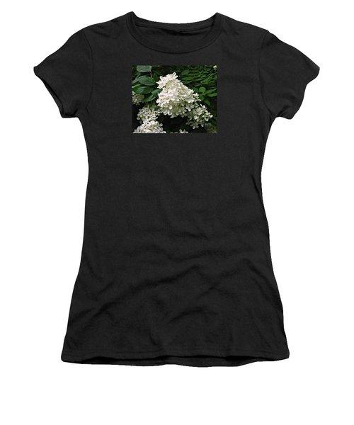 Women's T-Shirt (Junior Cut) featuring the photograph Hydrangea Arborescens ' Annabelle ' by William Tanneberger