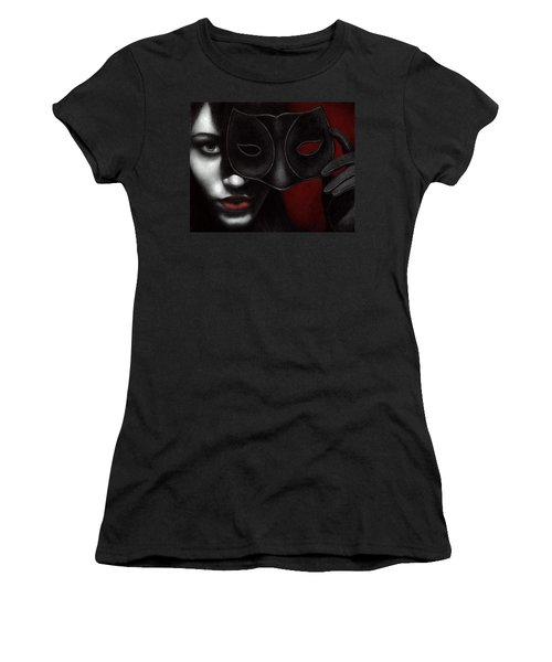 Women's T-Shirt (Junior Cut) featuring the painting I Am Only What I Allow You To See by Pat Erickson