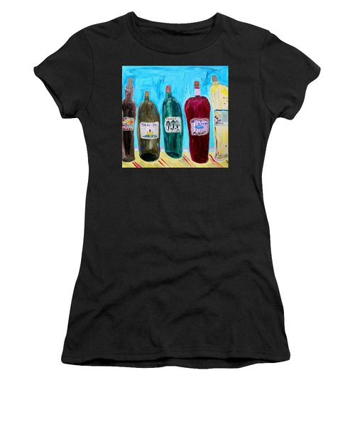 I Choose Wine By The Label Women's T-Shirt (Athletic Fit)