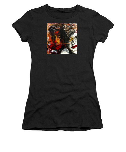 Women's T-Shirt (Junior Cut) featuring the drawing I Feel You by Helen Syron