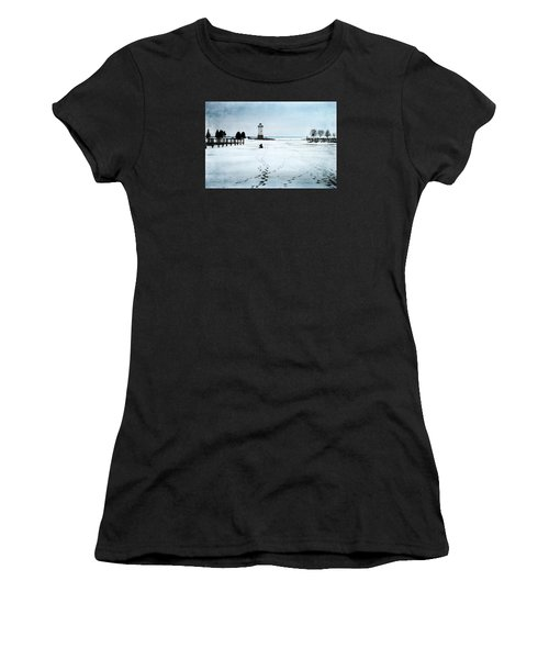 Ice Fishing Solitude 2 Women's T-Shirt (Athletic Fit)