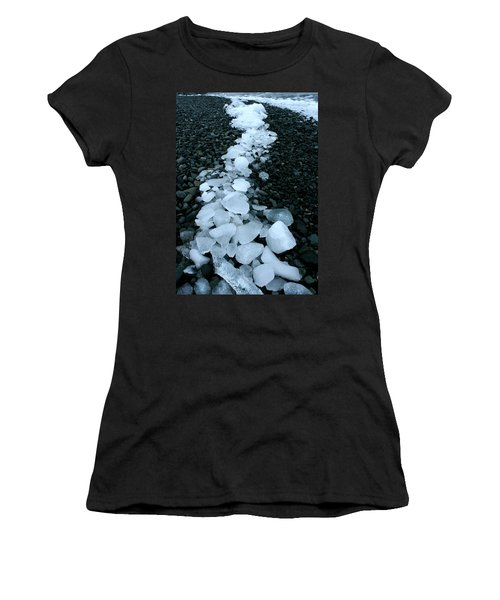 Women's T-Shirt (Junior Cut) featuring the photograph Ice Pebbles by Amanda Stadther