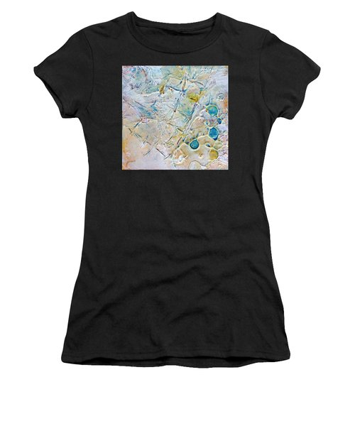 Women's T-Shirt featuring the mixed media Iced Texture I by Phyllis Howard