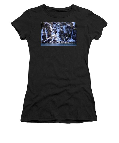 Women's T-Shirt (Junior Cut) featuring the photograph Icicle House by Barbara Griffin