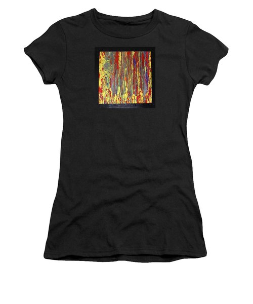 Women's T-Shirt (Junior Cut) featuring the painting If...then by Michael Cross